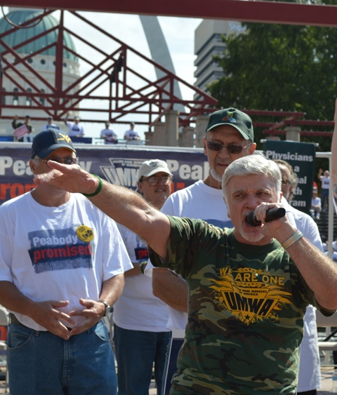 UMWA Pres Cecil Roberts declares the Mine Workers fight is a faith-based, civil rights-based and labor-based struggle.