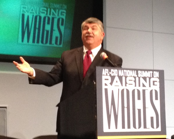 AFL-CIO Pres Richard Trumka calls for all people to share the wealth created in America.