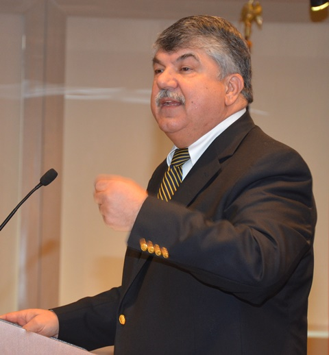 AFL-CIO Pres Richard Trumka pledges to continue fight to improve lives for all working people.