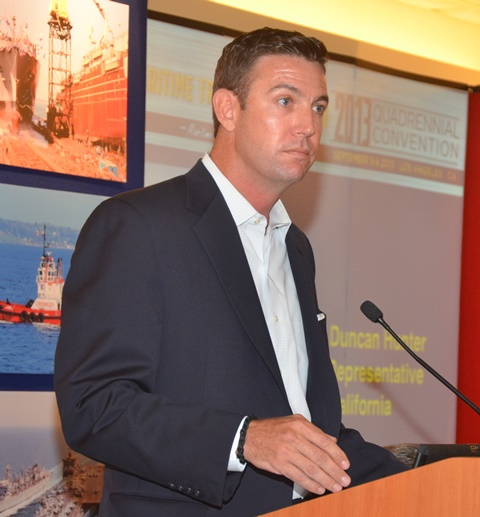 US. Rep. Duncan Hunter (R-CA) addresses the 2013 MTD Convention.