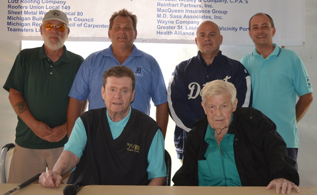 Ron Krochmalny (seated right) poses with the officers and trustees of the Michigan Maritime Trades Port Council on September 16. He passed away a few hours after this photo was taken.