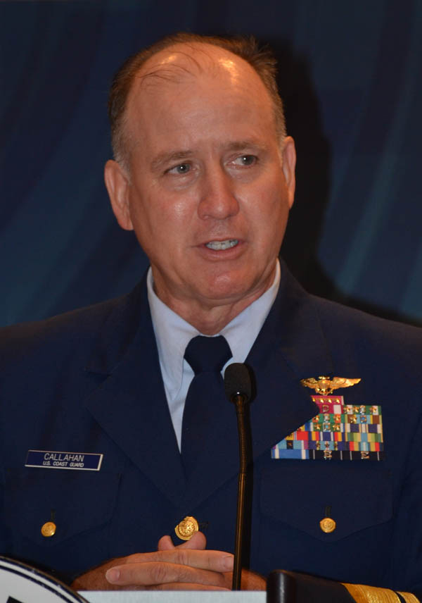 USCG RADM David Callahan tells MTD Executive Board he relies on maritime organizations for successful missions and operations.