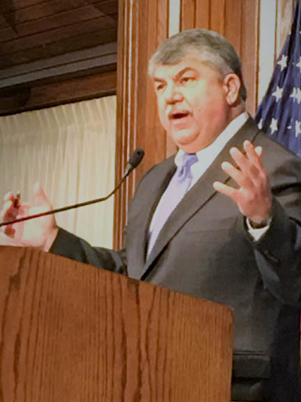 AFL-CIO Pres Richard Trumka outlines the fight to bring the nation's economy closer to the values of workers during an address at the National Press Club.