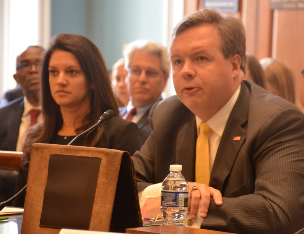 SIU's Brian Schoeneman testifies on importance of Food for Peace Program to House Agriculture Committee.